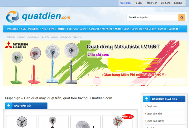 Tên miền đẹp quatdien.com đã được kinh doanh hiệu quả