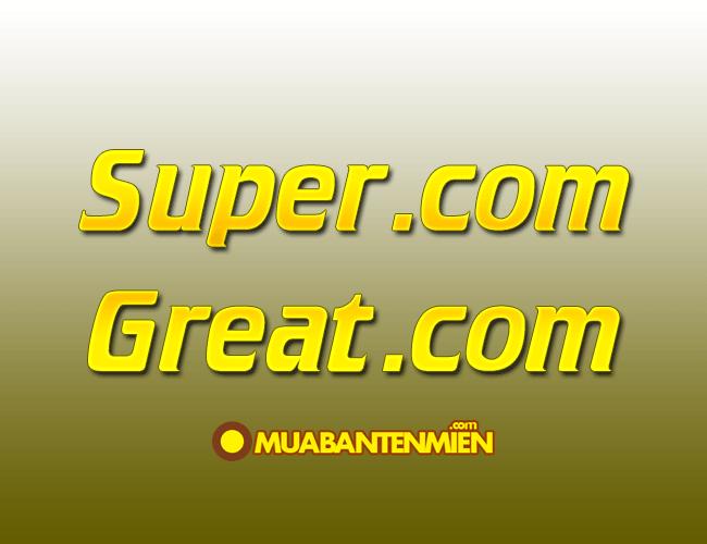Tên miền super.com mới được bán giá 1,2 triệu USD