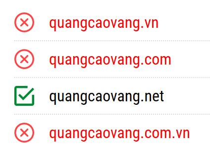 Tên miền đẹp QuangcaoVang.com rất HOT