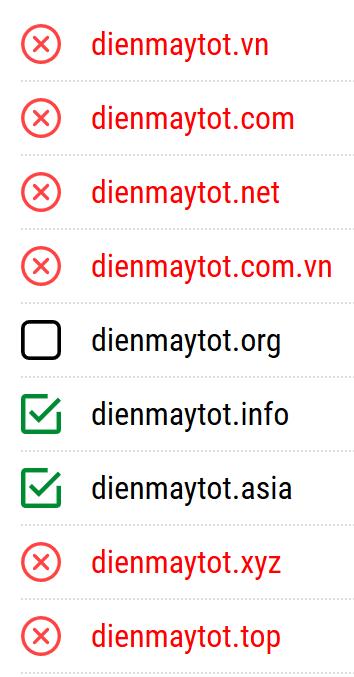 Tên miền hay DienMayTot.com